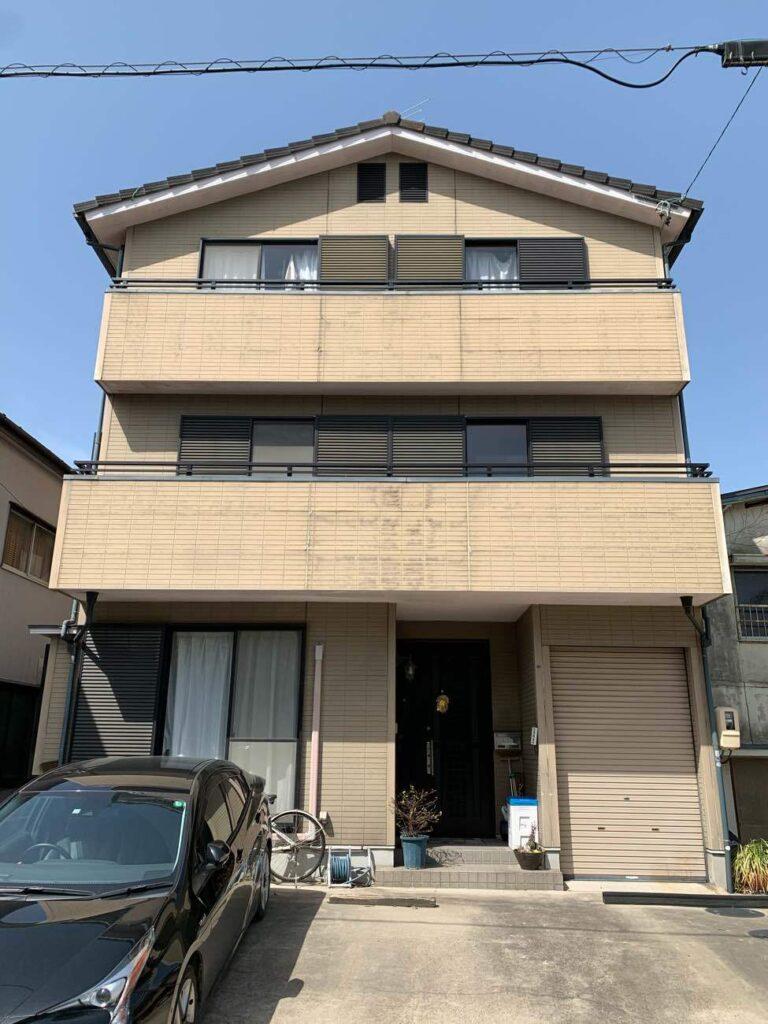 3階建て住宅をハイブリッド塗装で外壁・屋根共に耐候性UP