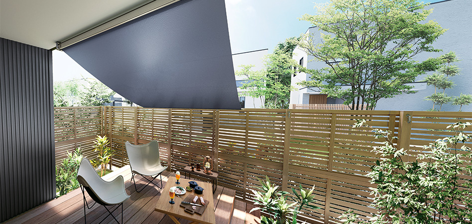 LIXILサンシェード 豊田市 外壁塗装・屋根塗装専門ペイントスタジオ